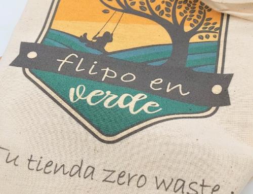Bolsa de tela Flipo en Verde