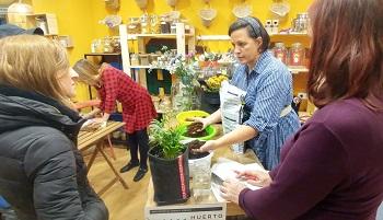 taller huerto urbano en Flipo en Verde