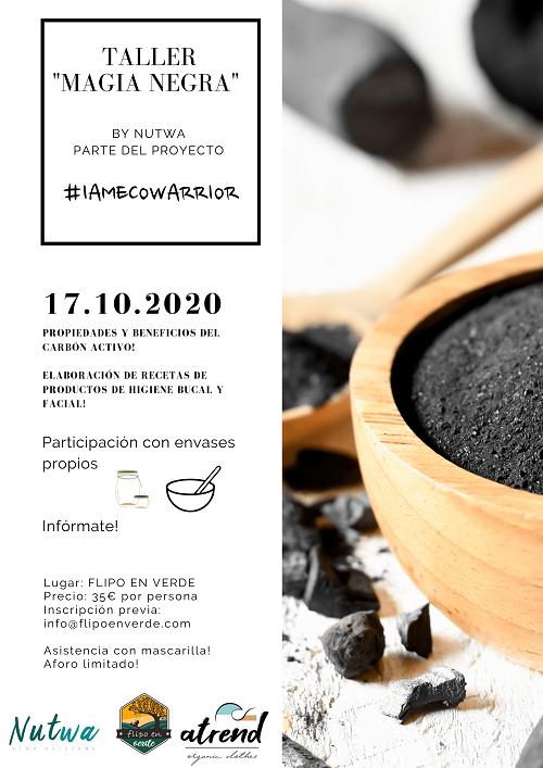 taller cosmética con carbón activo en Valencia